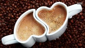 Café com amor.