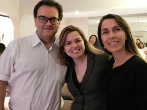 Reinaldo, eu e Cassinha. Nossa como eu amo esses dois!