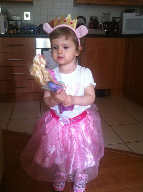 Minha princesinha vestida de Peppa