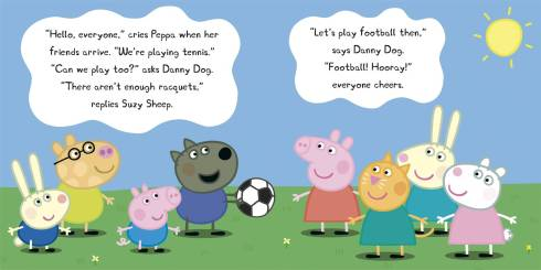 Peppa e amigos jogando