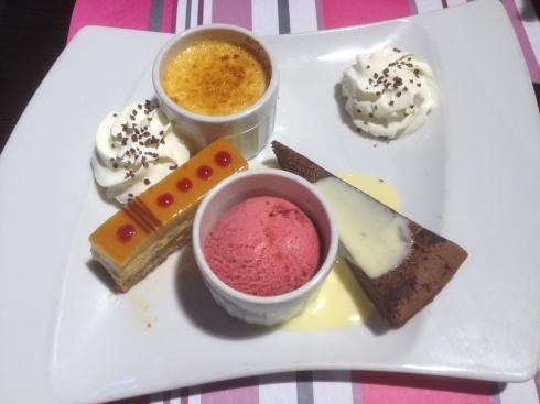 Detalhes da sobremesa do Castelo de Chantilly