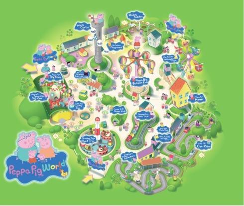 Mapa Parque Peppa Pig
